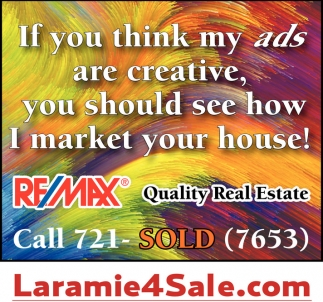 If you think my ads are creative, you should see how I market your house
