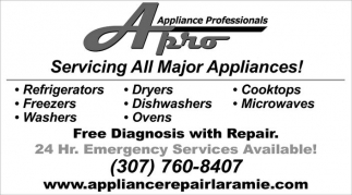 Servicing All Major Appliances!