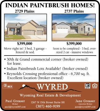 Indian Paintbrush Homes!