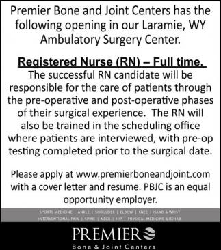 Registered Nurse (RN)  - Full Time