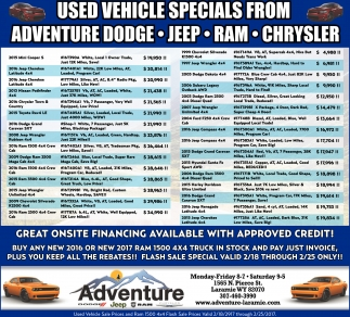 Great ONSITE Financing Avalaible with Approved Credit!