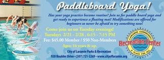 Paddleboard Yoga!