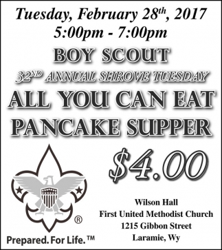 All you can eat pancake supper!