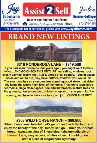 Brand New Listings