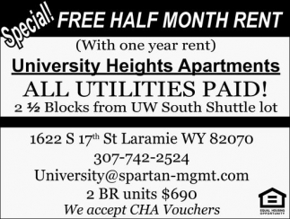 Special! Free Half Month Rent