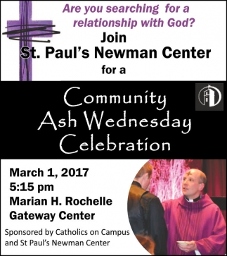 Community Ash Wednesday Celebration
