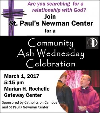 Community Ash Wednesday Celebration