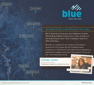 An award that puts Blue on the map
