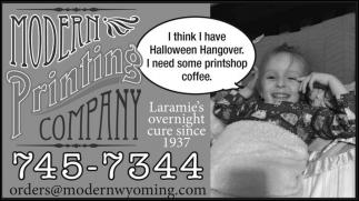 Laramie's Overnight Cure since 1937