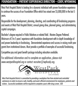 Foundation - Patient Experience Director - Cody, Wyoming