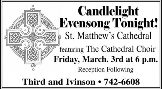 Candlelight Evensong Tonight!