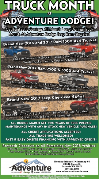 Truck Month at Adventure Dodge!