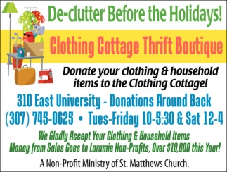 De-Clutter Before the Holidays!