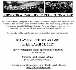Survivor and Caregiver Reception and Lap
