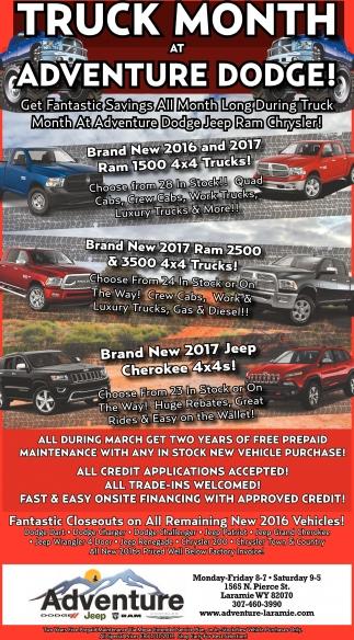 Truck Month at Adventure Dodge!