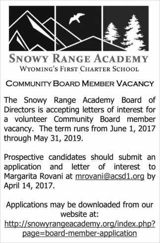 Community Board Member Vacancy