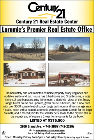 Laramie's Premier Real Estate Office!