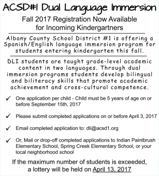 Fall 2017 Registration Now Available