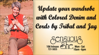 Update your Wardrove with Colored Denim and Cords by Tribal and Jag