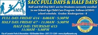 SACC Full Days & Half Days