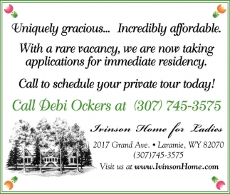 Uniquely gracious... Incredibly affordable