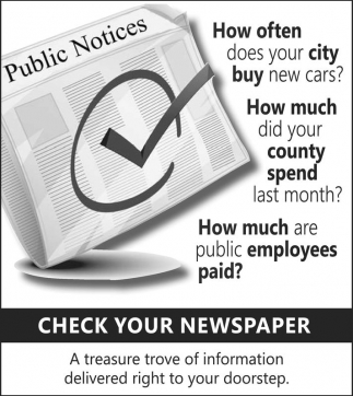 Check your Newspapers