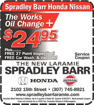 The works Oil Change + $24.95