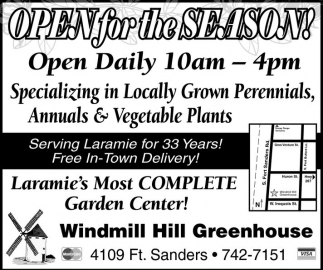 Open for the Season!