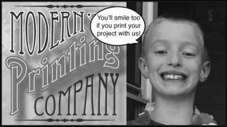 You'll smile too if you print your project with us!