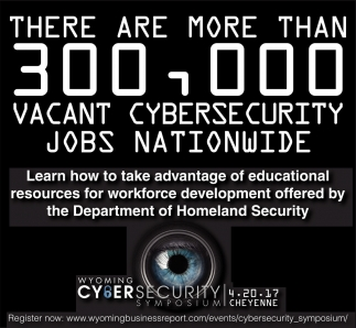 There are more than 300,000 vacant cybersecurity jobs nationwide