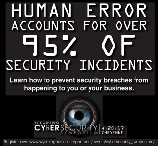 Human error accounts for over 95% of security incidents