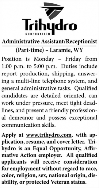 Administrative Assistant/Receptionist
