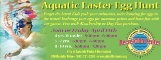 Aquatic Easter Egg Hunt