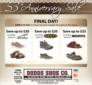 53rd Anniversary Sale