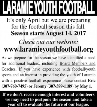 Laramie Youth Football