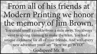 We Honor the Memory of Jim Brown