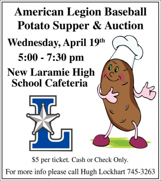 Potato Supper & Auction