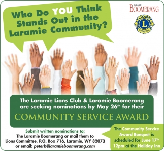 Who do you think stands out in the Laramie Community?