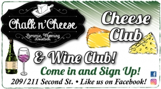 Cheese Club and Wine Club!