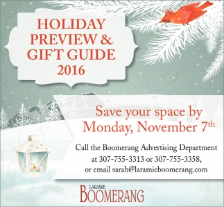 Holiday Preview and Gift Guide 2016
