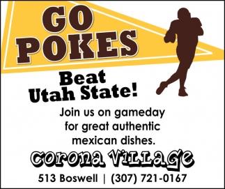 Go Pokes! Beat Utah State!