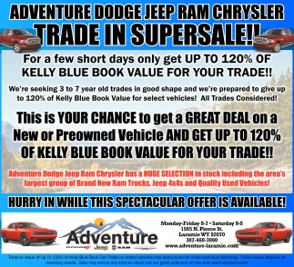 Trade in supersale!!, Adventure Dodge Jeep RAM Chrysler, Laramie, WY