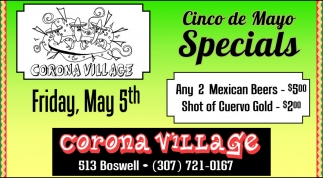 Cinco de Mayo Specials