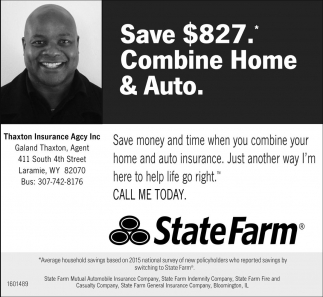 Save $827. Combine Home and Auto