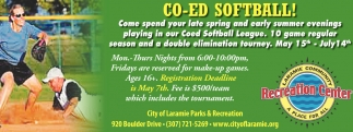 CO-ED Softball!!