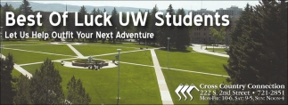 Best of Luck UW Students