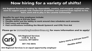 Now hiring for a variety of shifts!