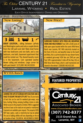 The oldest CENTURY 21 Franchise in Wyoming