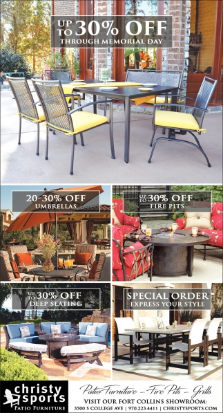 Up To 30% OFF, Christy Sports Patio Furniture