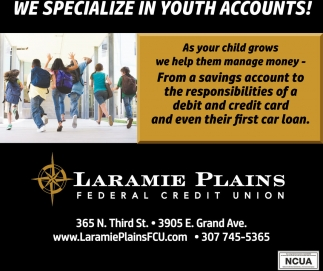We Specialize in Youth Accounts